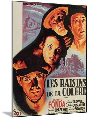 The Grapes of Wrath, French Movie Poster, 1940--Mounted Art Print
