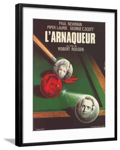 The Hustler, French Movie Poster, 1961--Framed Art Print
