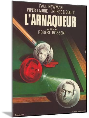The Hustler, French Movie Poster, 1961--Mounted Art Print
