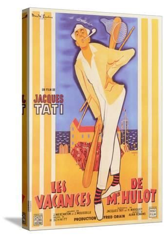 Mr. Hulot's Holiday, French Movie Poster, 1953--Stretched Canvas Print