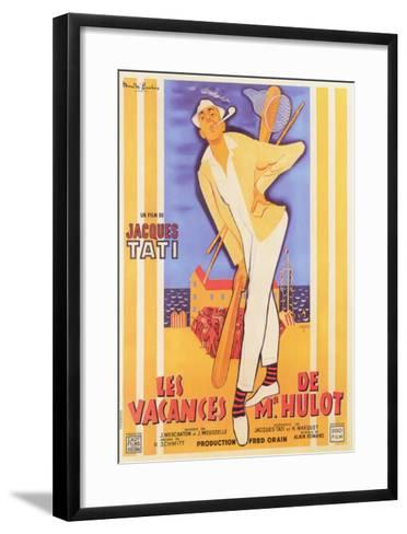 Mr. Hulot's Holiday, French Movie Poster, 1953--Framed Art Print
