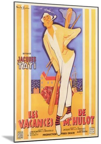 Mr. Hulot's Holiday, French Movie Poster, 1953--Mounted Art Print