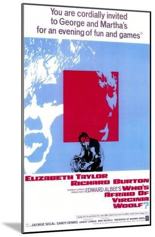 Who's Afraid of Virginia Woolf?, 1966--Mounted Art Print