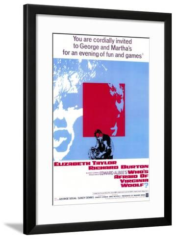 Who's Afraid of Virginia Woolf?, 1966--Framed Art Print