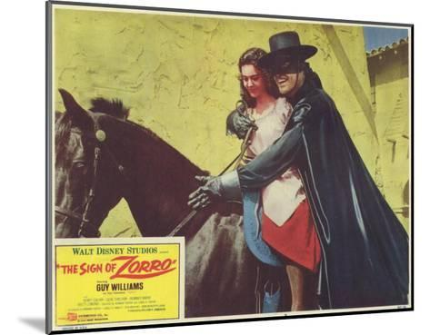 The Sign of Zorro, 1960--Mounted Art Print