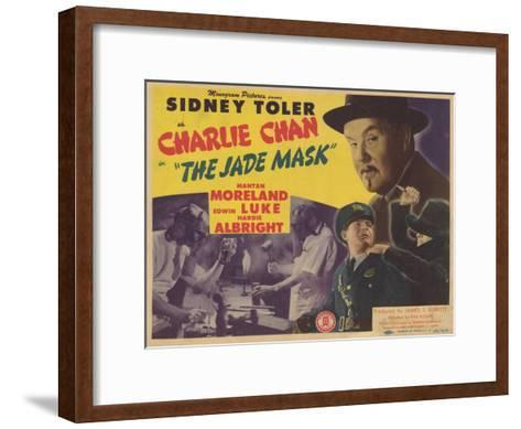 Charlie Chan in The Jade Mask, 1945--Framed Art Print