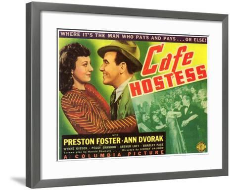 Cafe Hostess, 1940--Framed Art Print