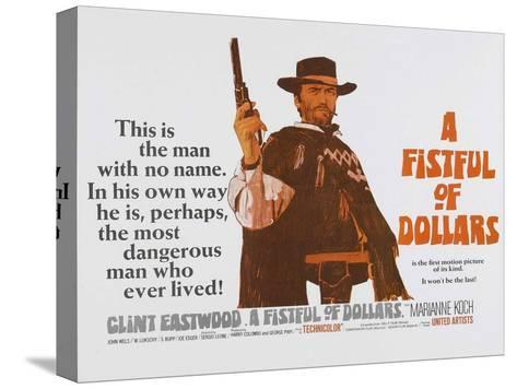For a Few Dollars More, UK Movie Poster, 1966--Stretched Canvas Print
