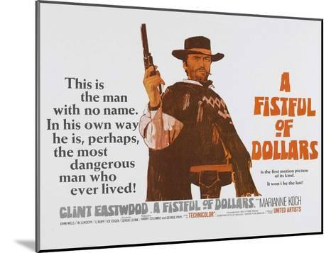 For a Few Dollars More, UK Movie Poster, 1966--Mounted Art Print