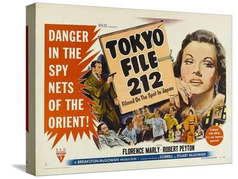 Tokyo File 212, UK Movie Poster, 1951--Stretched Canvas Print