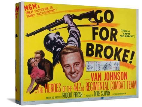 Go for Broke, 1951--Stretched Canvas Print