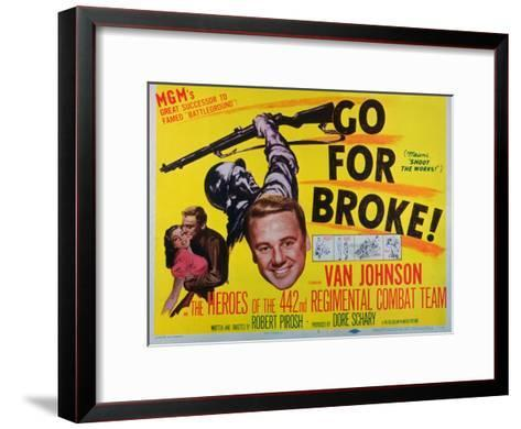 Go for Broke, 1951--Framed Art Print