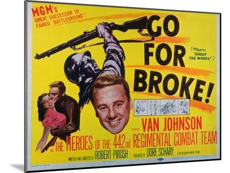Go for Broke, 1951--Mounted Art Print