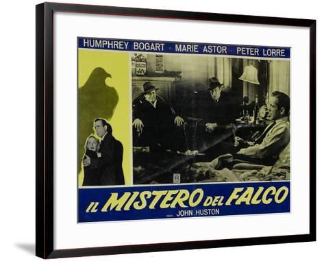 The Maltese Falcon, Italian Movie Poster, 1941--Framed Art Print