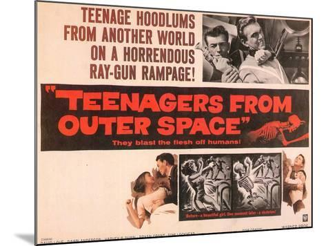 Teenagers From Outer Space, 1959--Mounted Art Print