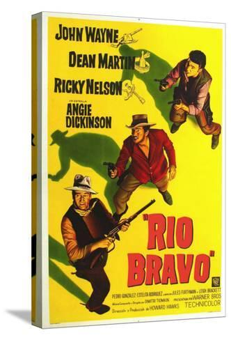 Rio Bravo, Australian Movie Poster, 1959--Stretched Canvas Print