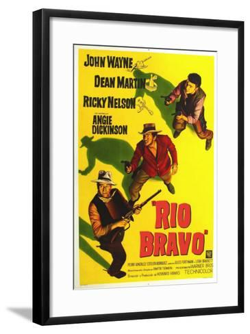 Rio Bravo, Australian Movie Poster, 1959--Framed Art Print