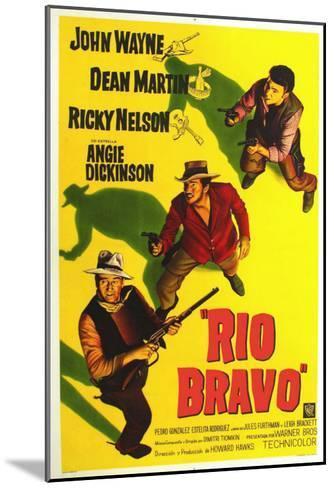 Rio Bravo, Australian Movie Poster, 1959--Mounted Art Print