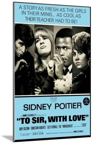 To Sir With Love, Australian Movie Poster, 1967--Mounted Art Print