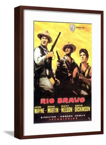 Rio Bravo, Spanish Movie Poster, 1959--Framed Art Print