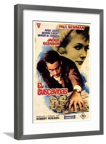 The Hustler, Spanish Movie Poster, 1961--Framed Art Print