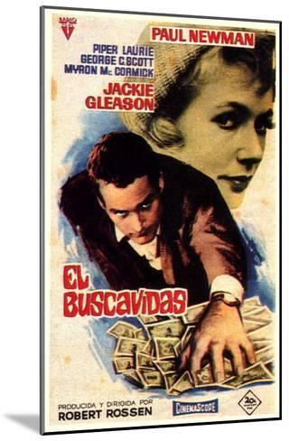The Hustler, Spanish Movie Poster, 1961--Mounted Art Print