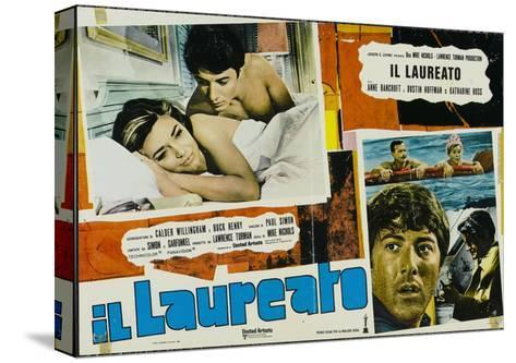 The Graduate, Italian Movie Poster, 1967--Stretched Canvas Print