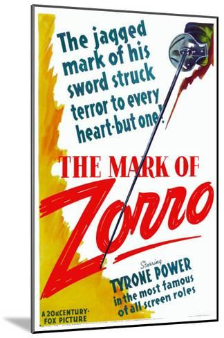 The Mark of Zorro, 1940--Mounted Art Print
