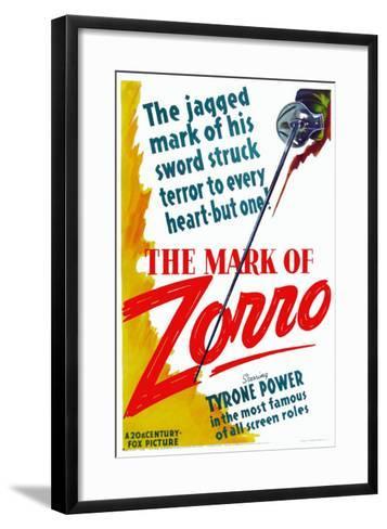 The Mark of Zorro, 1940--Framed Art Print