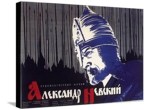 Alexander Nevskiy, Russian Movie Poster, 1938--Stretched Canvas Print