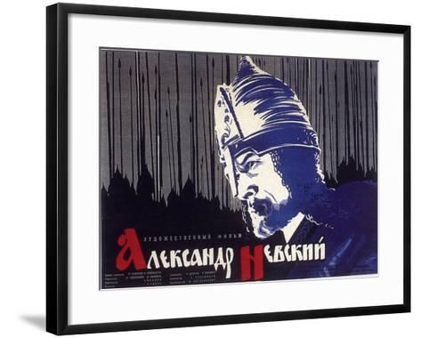 Alexander Nevskiy, Russian Movie Poster, 1938--Framed Art Print