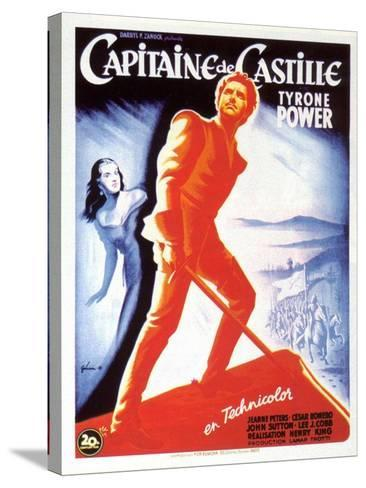Captain From Castile, French Movie Poster, 1947--Stretched Canvas Print