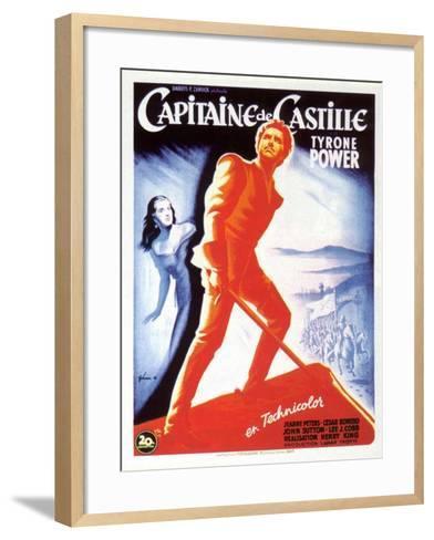 Captain From Castile, French Movie Poster, 1947--Framed Art Print