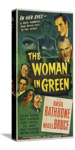 The Woman in Green, 1945--Stretched Canvas Print