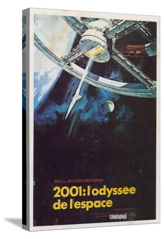 2001: A Space Odyssey, French Movie Poster, 1968--Stretched Canvas Print