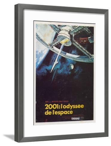 2001: A Space Odyssey, French Movie Poster, 1968--Framed Art Print
