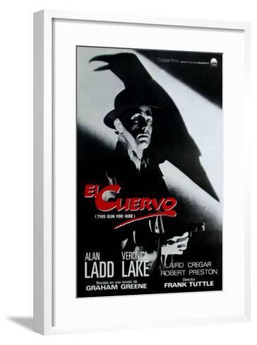 This Gun For Hire, Spanish Movie Poster, 1942--Framed Art Print