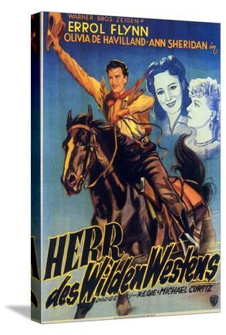 Dodge City, German Movie Poster, 1939--Stretched Canvas Print