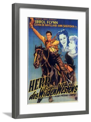 Dodge City, German Movie Poster, 1939--Framed Art Print