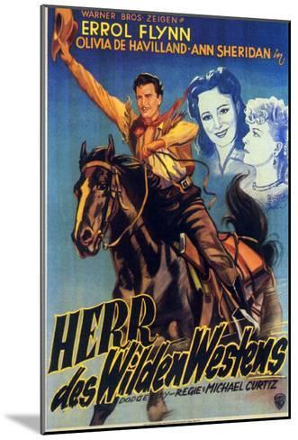 Dodge City, German Movie Poster, 1939--Mounted Art Print