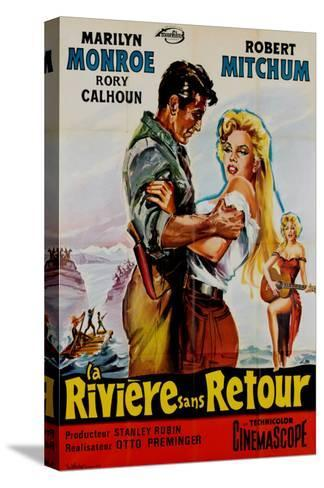 River of No Return, French Movie Poster, 1954--Stretched Canvas Print