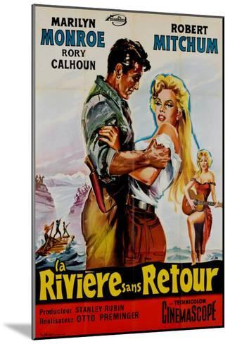 River of No Return, French Movie Poster, 1954--Mounted Art Print