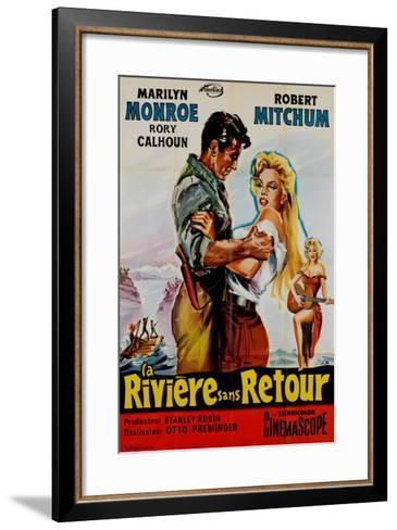 River of No Return, French Movie Poster, 1954--Framed Art Print