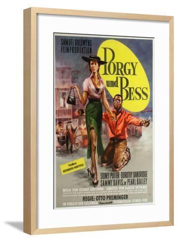 Porgy and Bess, German Movie Poster, 1959--Framed Art Print