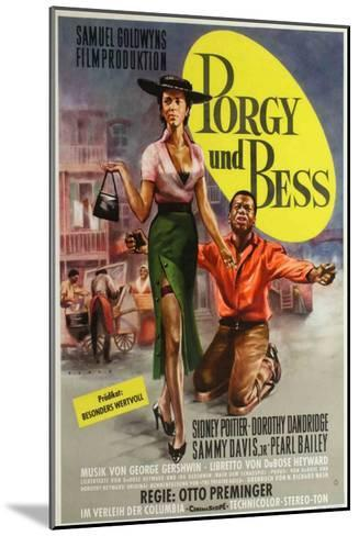 Porgy and Bess, German Movie Poster, 1959--Mounted Art Print