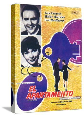The Apartment, Spanish Movie Poster, 1960--Stretched Canvas Print