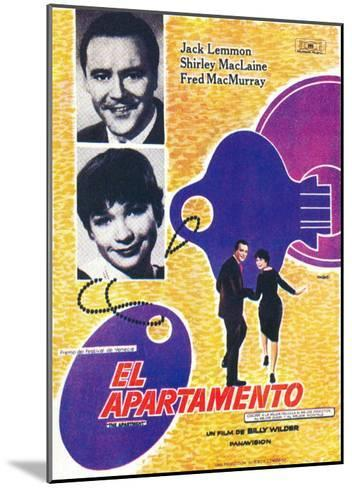 The Apartment, Spanish Movie Poster, 1960--Mounted Art Print