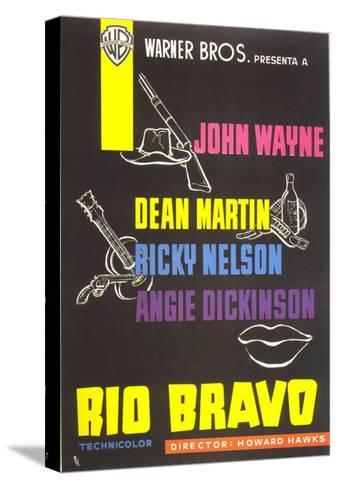 Rio Bravo, Spanish Movie Poster, 1959--Stretched Canvas Print
