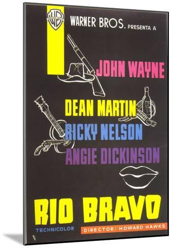 Rio Bravo, Spanish Movie Poster, 1959--Mounted Art Print
