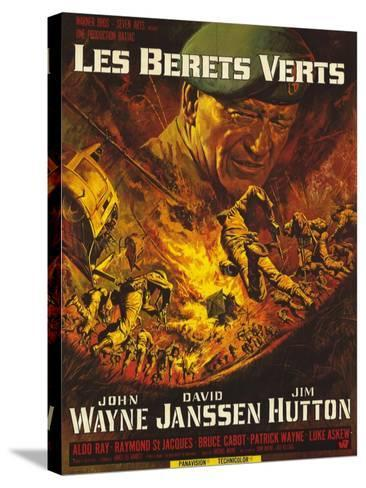 Green Berets, French Movie Poster, 1968--Stretched Canvas Print